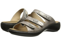 Romika Ibiza 20 Metallic Platinum Leather Women's Sandals