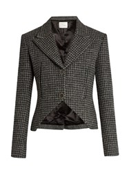 Hillier Bartley Hound's Tooth Checked Wool Jacket Grey Multi