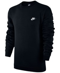 Nike Men's Crewneck Fleece Sweatshirt Black