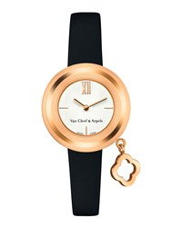 Charms Pink Gold Mini Watch 25Mm Van Cleef And Arpels Pink Gold