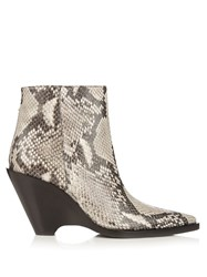 Acne Studios Caroline Snake Effect Leather Ankle Boots Python