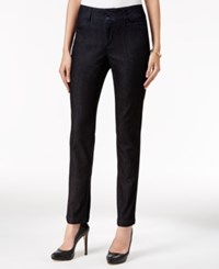 Charter Club Tummy Control Bristol Skinny Ankle Pants Only At Macy's Midnight Wash