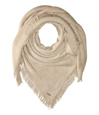 Calvin Klein Cashmere Like Acrylic Square Scarf Heathered Almond Scarves Beige