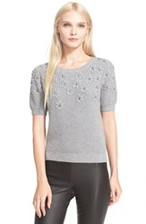 Parker Embroidered Chunky Knit Sweater Glacier