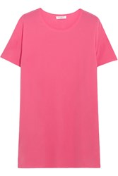 Equipment Riley Oversized Washed Silk Top Pink