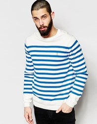 Farah Jumper With Breton Stripe Regular Fit White