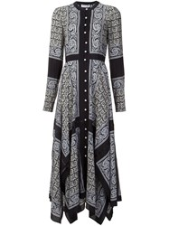 Altuzarra Paisley Print Shirt Dress Black