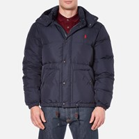 Polo Ralph Lauren Men's Down Filled Hooded Jacket Worth Navy Blue Navy