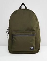 Herschel Supply Co Settlement Backpack With Perforated Detail In Khaki 23L Green
