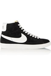 Nike Blazer Perforated Suede High Top Sneakers Black