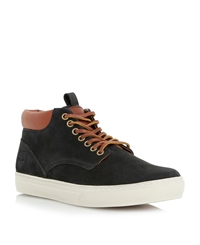Cupsole Hi Top Lace Up Casual Chukka Boots Black