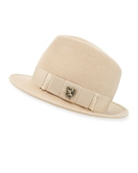 Philip Treacy Leonard Trilby Hat W Unicorn Bow