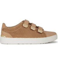 Aldo Palse Leather Trainers Cognac