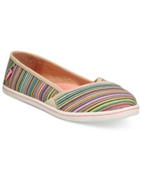 Rocket Dog Hanes Slip On Flats Women's Shoes Natural Spray Burst