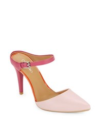Calvin Klein Ginnie Colorblocked Point Toe Mules Pink