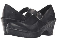 Born Lezlie Black Full Grain Leather Women's Clog Shoes