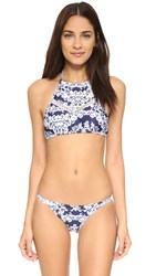 Suboo California Lattice Halter Bikini Top Indigo
