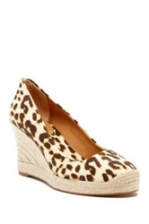 J.Crew Nonna Cat Print Saville Wedge Orange