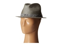 San Diego Hat Company Sdh2033 Paper Fedora W Printed Ribbon Band Grey Fedora Hats Gray