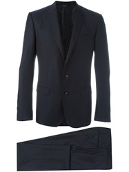 Dolce And Gabbana Two Piece Suit Blue