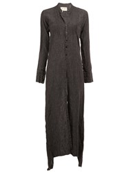 Greg Lauren Long Buttoned Tunic Grey