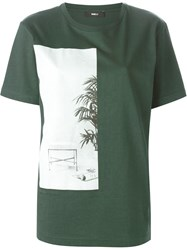 Yang Li 'The Limits Of Comfort' T Shirt Green