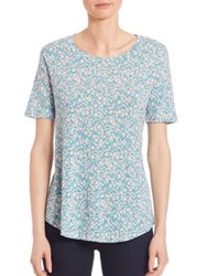 Rebecca Taylor Provnce Short Sleeve Tee Turquoise Combo