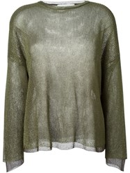 Dolce And Gabbana Vintage Fine Knit Sweater Green