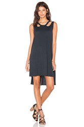 Lna Aura Dress Charcoal