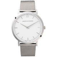 Larsson And Jennings Lugano 40Mm Silver Stainless Steel Metal Watch Silver Chain Metal