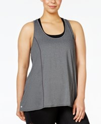 Ideology Plus Size Racerback Swing Tank Top Only At Macy's Charcoal Heather