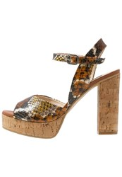 Zinda Elena High Heeled Sandals Brown