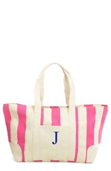 Cathy's Concepts Personalized Stripe Canvas Tote Pink Pink J