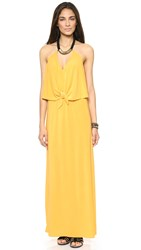 Misa Convertible Maxi Dress With Necklace Maize