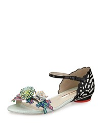 Sophia Webster Lilico Underwater Flat Sandal Black White