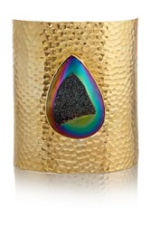 Dara Ettinger Mandy Large Gold Plated Druzy Cuff Metallic