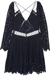 Zimmermann Riot Eyelet Broderie Anglaise Playsuit Blue
