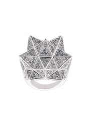 John Brevard Tetra Full Pave Diamond Ring Metallic