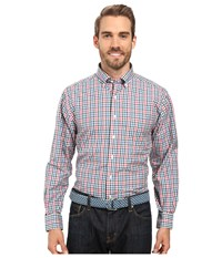 Vineyard Vines Gooseberry Check Classic Murray Shirt Cranberry Men's Clothing Red