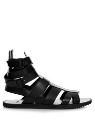 Givenchy Leather Gladiator Sandals Black