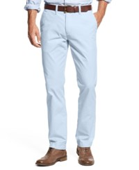 Tommy Hilfiger Men's Custom Fit Chino Pants Placid Blue