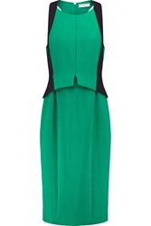 Amanda Wakeley Layered Crepe Dress Green