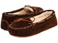 Minnetonka Cally Slipper Chocolate Suede Women's Moccasin Shoes Brown