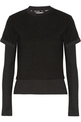 Opening Ceremony Layered Effect Textured Knit Top Black