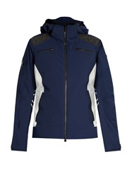 Capranea Element Hooded Waterproof Ski Jacket Navy White