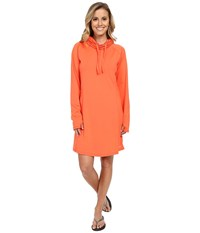 Exofficio Sol Cool Hoodie Dress Hot Coral Women's Dress Red