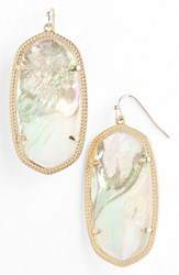 Kendra Scott Women's 'Danielle Large' Oval Statement Earrings Ivory Mother Of Pearl Gold