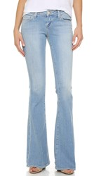 L'agence Elysee Low Rise Flare Jeans Powder