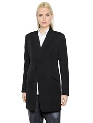 Y's Long Wool Gabardine Jacket