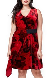 Rachel Roy Plus Size Women's Draped Velvet Dress